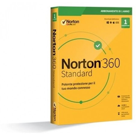 Norton 360 Std 2020 1 Dispositivo 1 Anno 10Gb